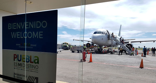 Aeropuerto Hermanos Serdán aumenta 33% traslados en 2017