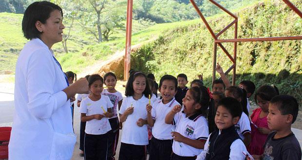 Hospital de Huitzilan atiende a 1,056 niños en semana de salud bucal
