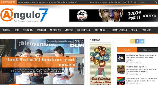 Ángulo 7, periodismo para construir en común renueva su página. Foto: Ángulo 7