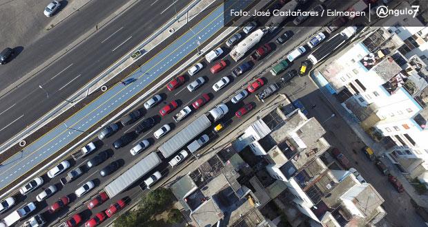 Congestión vial cuesta más de 4 mil mdp a Puebla-Tlaxcala; 4º mayor desembolso