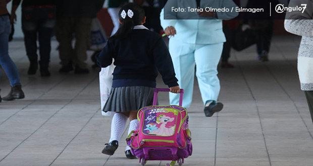 Este lunes regresaron a clases 5 mil 787 escuelas de 105 municipios de Puebla