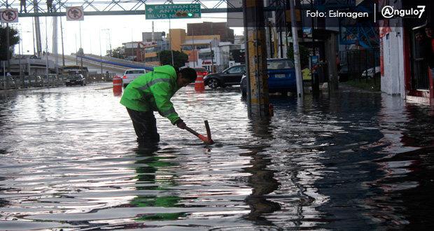 Atienden 7 de 51 puntos propenso a inundaciones en la Angelópolis