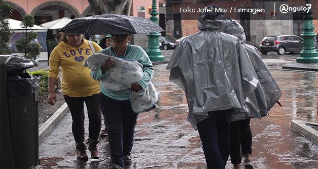 Pronostican lluvias fuertes en todo Puebla durante la semana