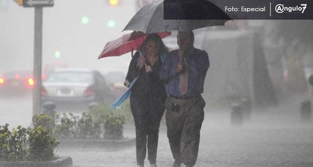 Saca el paraguas, pronostican lluvias en Puebla y ambiente caluroso