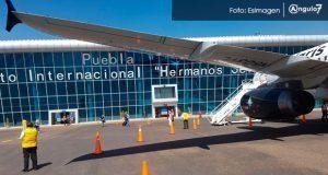 Por Franklin, Aeropuerto Internacional de Puebla cancela ocho vuelos. Foto: EsImagen