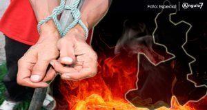 Intentan linchar a presunto homicida en San Nicolás de los Ranchos