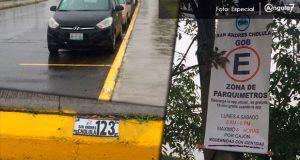 Apenas dejan 5 mil pesos diarios parquímetros a San Andrés Cholula