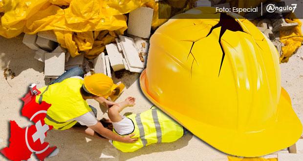 Puebla acumula 899 accidentes laborales hasta marzo