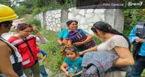 En Cuayuca sigue ayuda los damnificados por el sismo