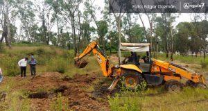 Arranca proyecto de parque en Amalucan; llega maquinaria para reforestar