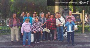 Exburócratas de Puebla se manifiestan y exigen indemnización