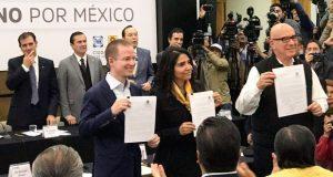PAN, PRD y MC firman ante el INE frente ciudadano rumbo a comicios de 2018