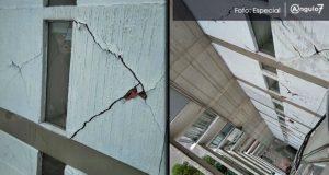 Reportan daños en Torres Géminis y Lomas de Angelópolis tras sismo