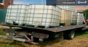 En Coronango, aseguran mil 400 litros de huachicol y detienen a 2
