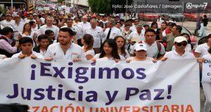 Marchan en Puebla para exigir justicia por Mara y alto a violencia de género