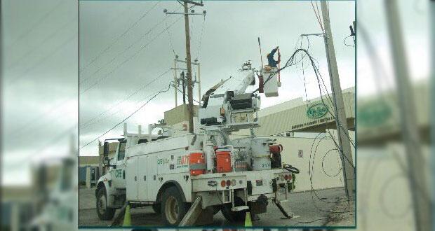 CFE restablece servicio de electricidad para 32% de afectados