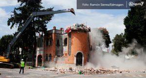 Derrumban terreón de casona y valoran demoliciones parciales en 2