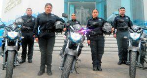 Comuna de Cuautlancingo adquiere 10 motocicletas para patrullajes