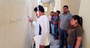 Evalúan daños en escuelas de Ahuatempan