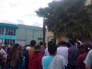 Habitantes de Cuautlancingo exigen seguridad.