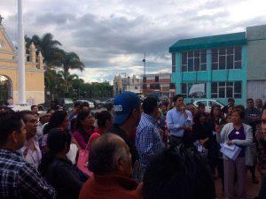 Habitantes de Cuautlancingo exigen seguridad. Foto: Ana Lucía Mendoza