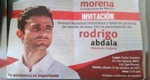 """Con volantes """"invita"""" Abdala a reunión con militantes de Morena"""