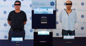 En Puebla, arrestan a 1 por robo y a otro por portar arma