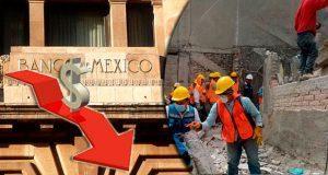 Por sismos, Banxico reduce a 1.8% expectativa de crecimiento