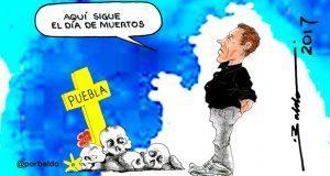 Caricatura: Sigue el día de muertos en Puebla