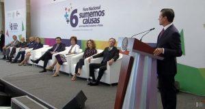 """EPN pide no hacer """"bullying"""" a instituciones y reconocerles logros"""