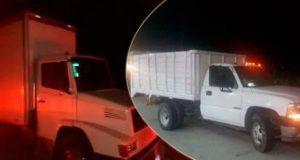 En 3 municipios, SSP asegura 2 cajas secas y 2 vehículos robados