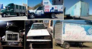 En diversas acciones, SSP decomisa 4 vehículos y 2 cajas secas