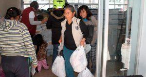 DIF de SPC entrega 1,910 apoyos alimentarios a 382 personas