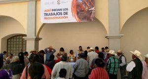 Sedatu presenta plan para reconstrucción de casas en Ahuatempan