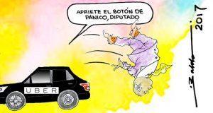 Caricatura: Uber pasa a traer a los diputados poblanos