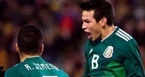Lozano marca doblete y México empata a 3 con Bélgica en Bruselas