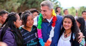 López y Gali inauguran Casa de Jóvenes en Progreso de la Sierra Negra