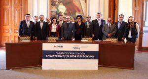 Recibe ayuntamiento de Puebla capacitación en blindaje electoral