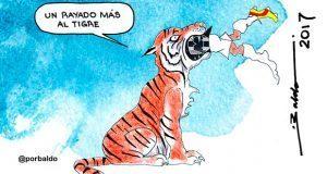Caricatura: Un rayado más al tigre