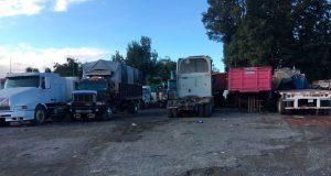 Aseguran corralón con 12 vehículos y 8 plataformas en Xicotepec