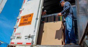Recuperan 28 unidades de transporte de mercancía en Cuautlancingo