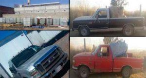 Recuperan 10 vehículos robados, 8 trasladaban hidrocarburo