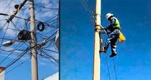 Sancionarían a empresas de telecomunicaciones por dejar cables colgados