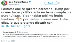 Gael García compara a Lozano con Trump y encienden Twitter con pelea