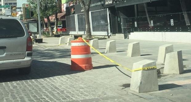 A pocas horas de inauguración de avenida Juárez, Ssptm retira franerelos ya instalados