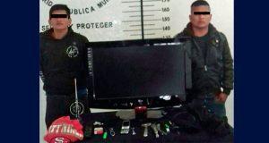 Detienen a dos en San Pedro Cholula por robo a casa habitación