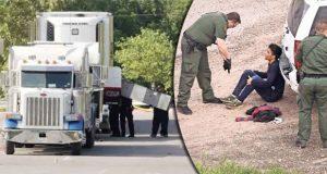 44 indocumentados son hallados en camiones en Texas