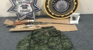 Policía federal detiene a tres con droga y armas en la Puebla-Orizaba