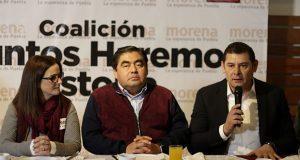 Armenta y de la Sierra inician precampaña a Senado por Morena-PT-PES