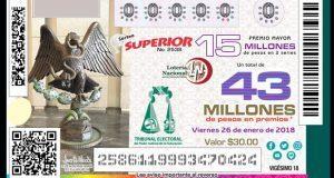 Lotería Nacional presenta billete conmemorativo con imagen del Tepjf